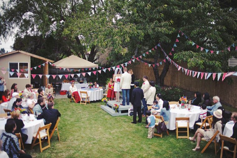 small diy backyard wedding | Tasha & Noah\'s Americana Backyard BBQ ...