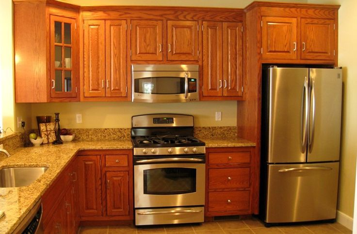 kitchen paint colors with oak cabinets and stainless steel appliances - Kitchen Design With Oak Cabinets