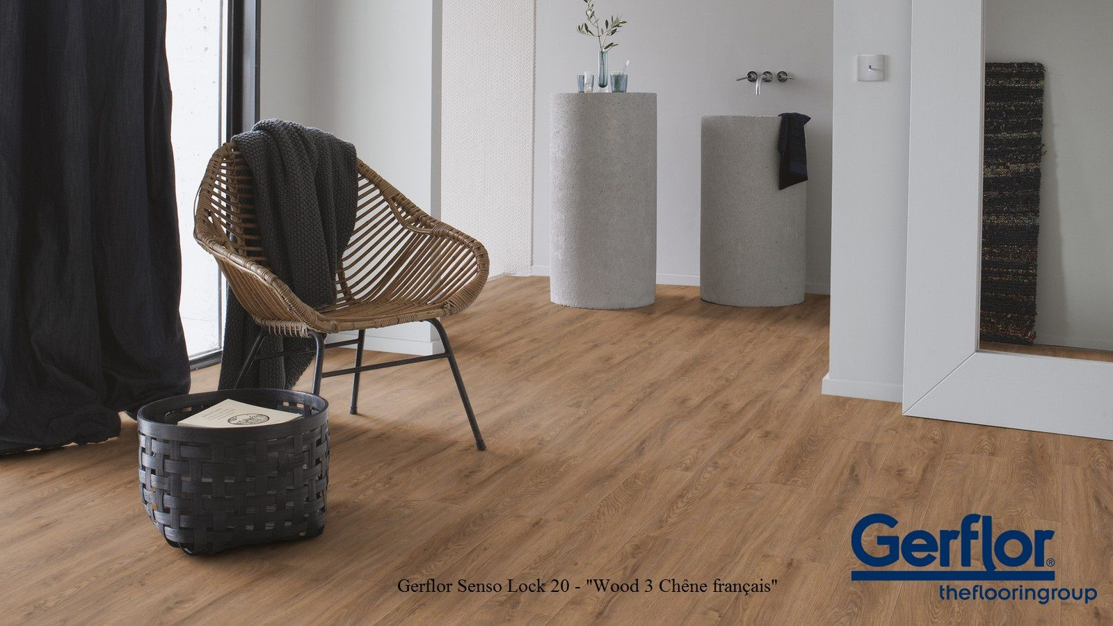 gerflor senso lock 20 0676 wood 3 ch ne fran ais parquet sol parquet et couleurs. Black Bedroom Furniture Sets. Home Design Ideas