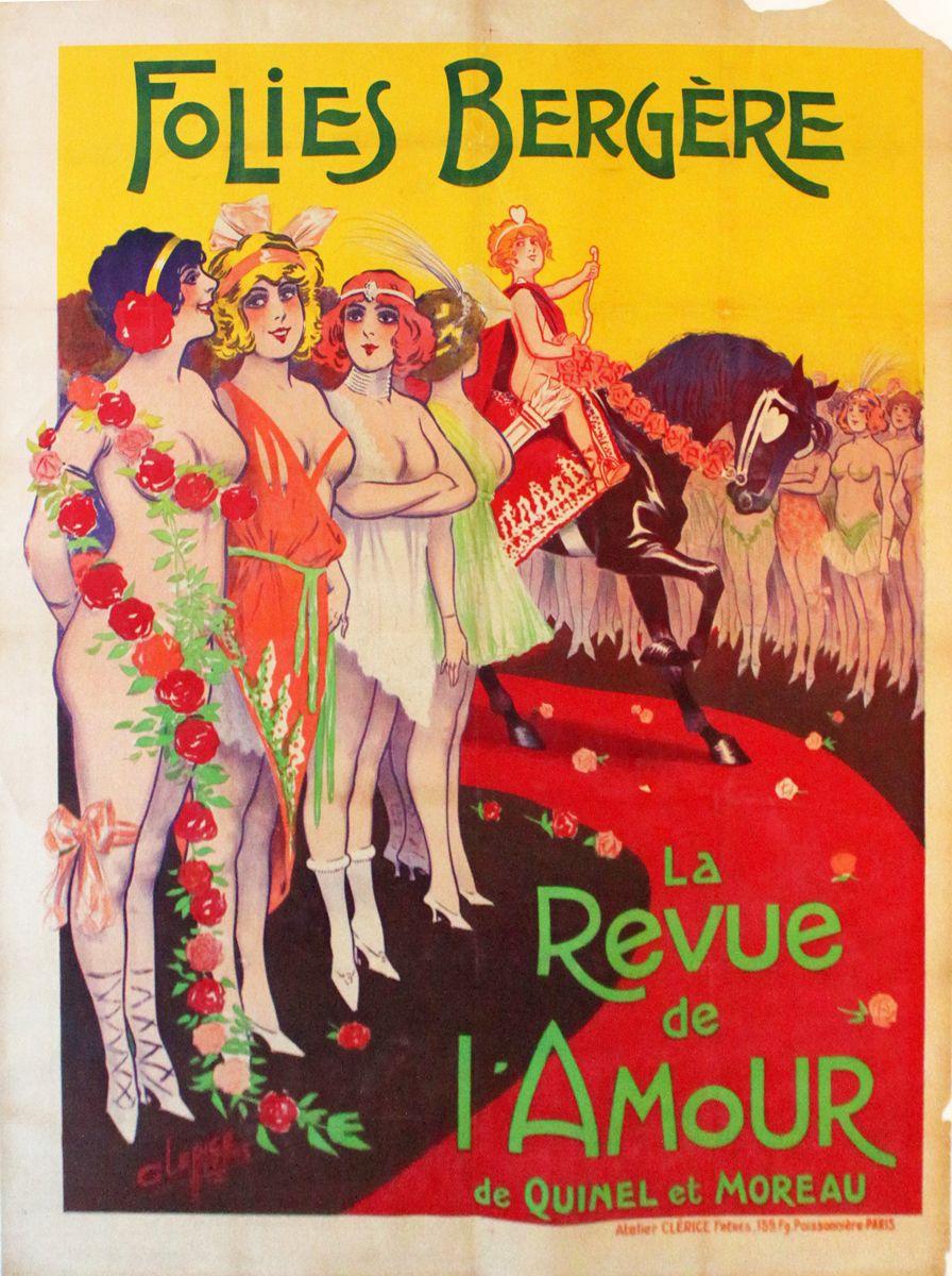 Revue De L Amour Art Graphique Art Folies Bergeres
