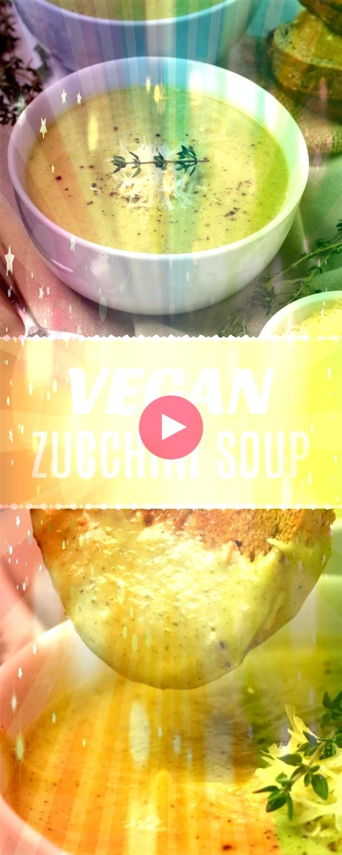 creamy vegan zucchini soup This simple 9ingredient recipe is ready in 30 minutes and crazy delicious Its also glutenfree vegan  Ultra creamy vegan zucchini soup This...