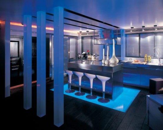 Blue Floor Lights