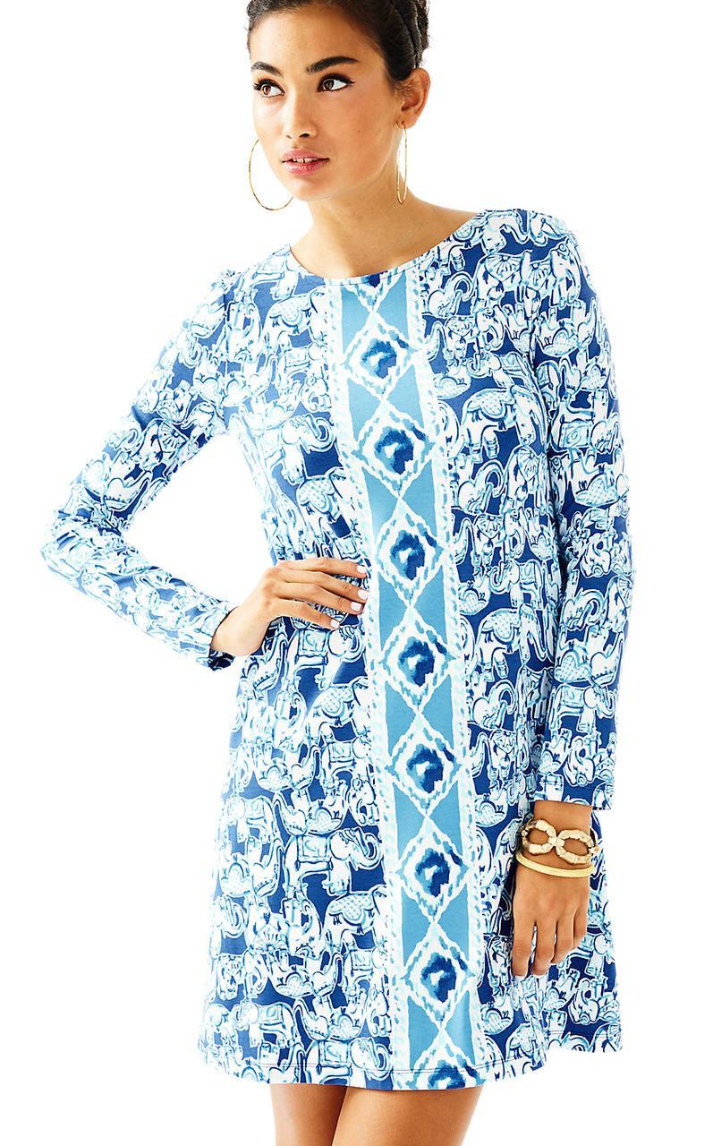OPHELIA DRESS in GET TRUNKY ENGINEERED, BOMBER BLUE ...