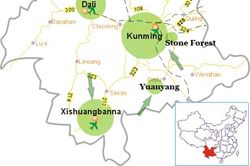 Kunming Map Map Of Kunming China Kunming Attractions Kunming