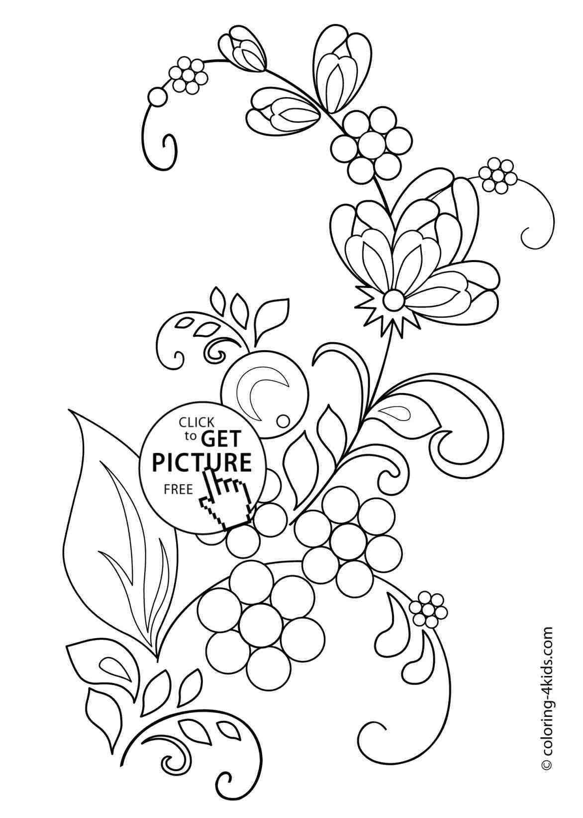flower drawings for kids Flower coloring pages