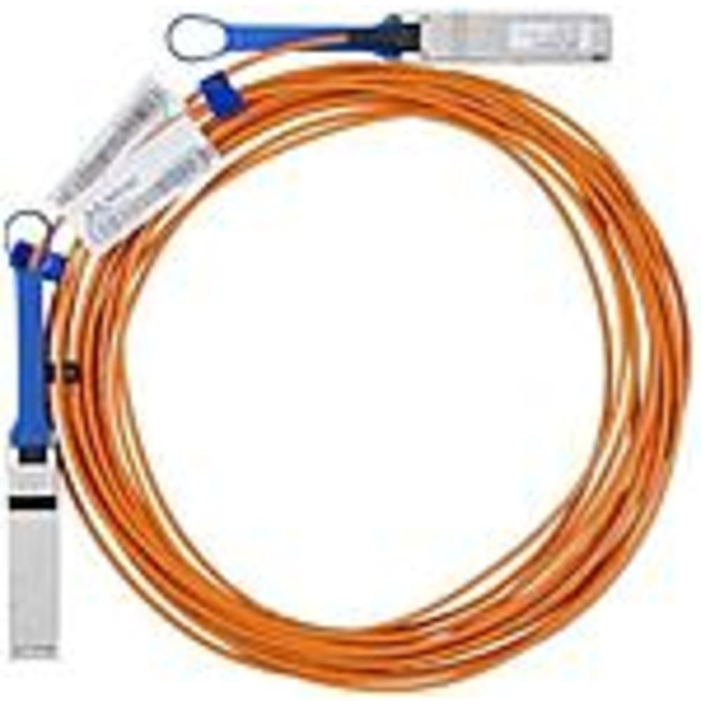 Mellanox Active Fiber Cable Vpi Up To 100gb S Qsfp 15m Fiber Optic For Network Device Switch 12 50 Gb S Fiber Optic Cable Fiber Optic Network Cable