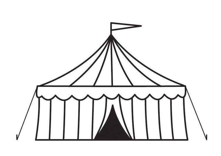 Coloring Page Circus Tent Thema Zirkus Zirkuszelt Zirkus