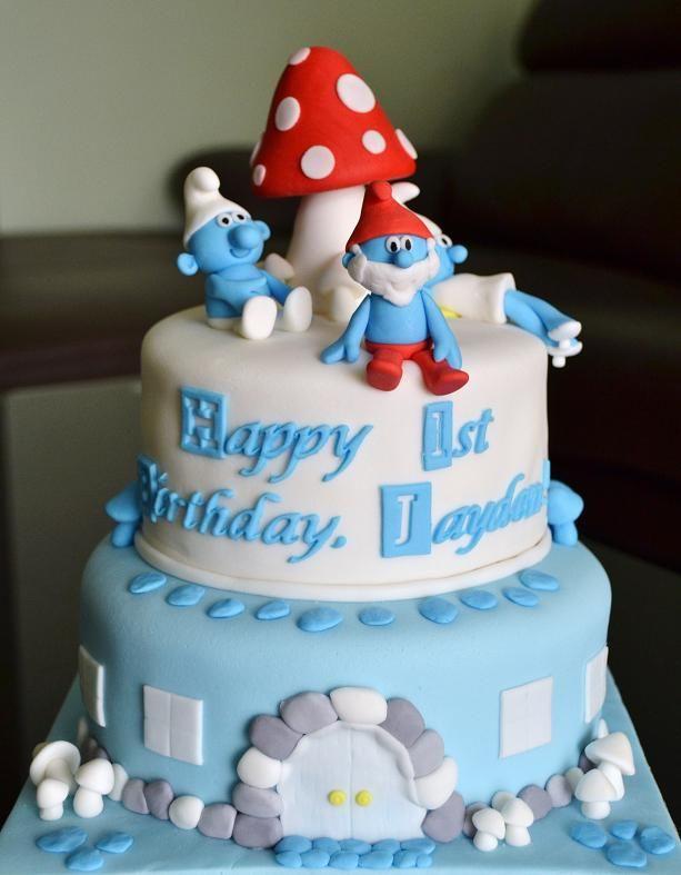 Remarkable The Cake Cakes The Smurfs Cake Smurfs Cake Birthday Cake Funny Birthday Cards Online Overcheapnameinfo