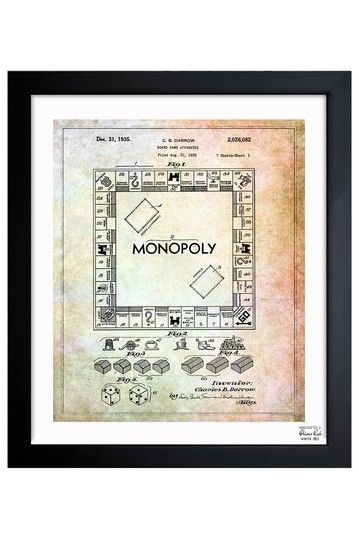 Monopoly 1935 framed art print by intriguing design blueprints monopoly 1935 framed art print by intriguing design blueprints sketches malvernweather Image collections