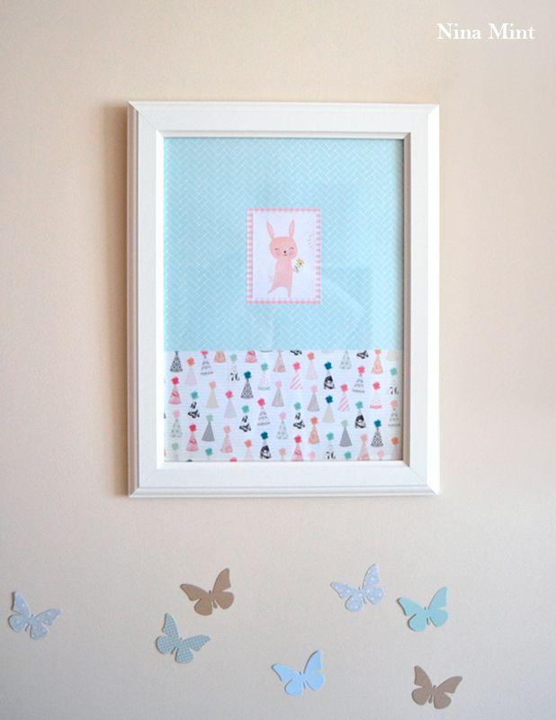 Cuadros para decorar con papeles de scrap - Nina Mint. #cuadro ...
