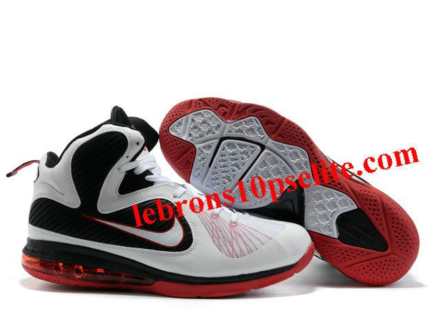 on sale ff71e 9b6e8 Nike Zoom LeBron 9 Shoes White Black Red