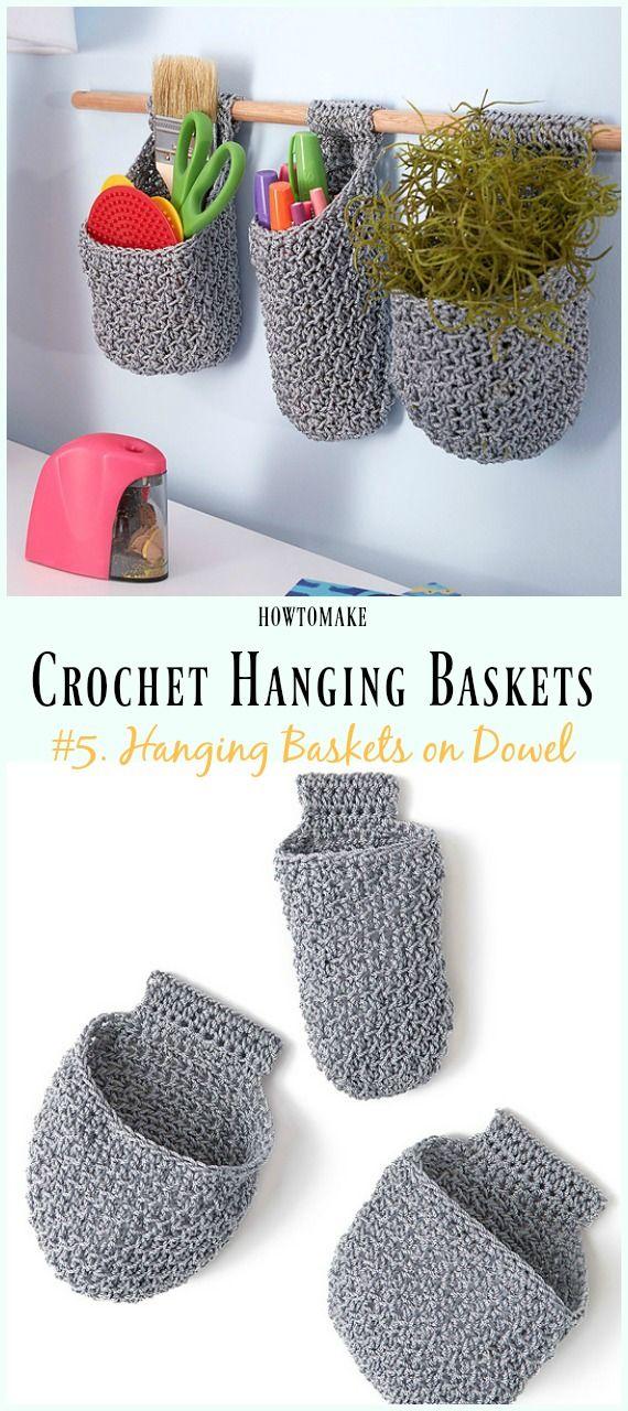 Hanging Basket Free Crochet Patterns Diy Crafts Breien Breien