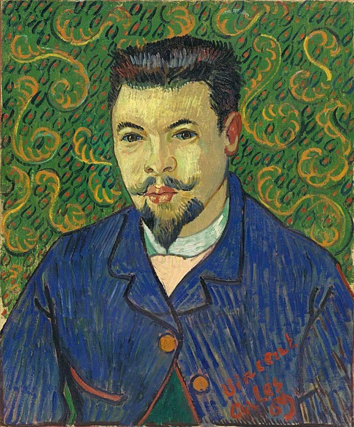 Portrait of Doctor Félix Rey (1889), Paintings by Vincent van Gogh