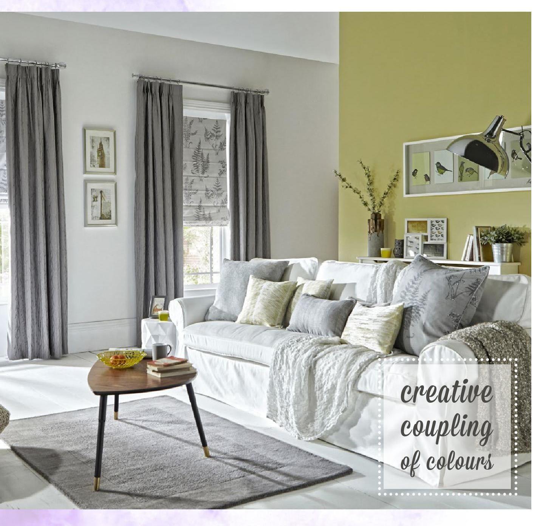 Style Studio Roman Curtain Brochure Grey And Yellow Living Room Yellow Living Room Home