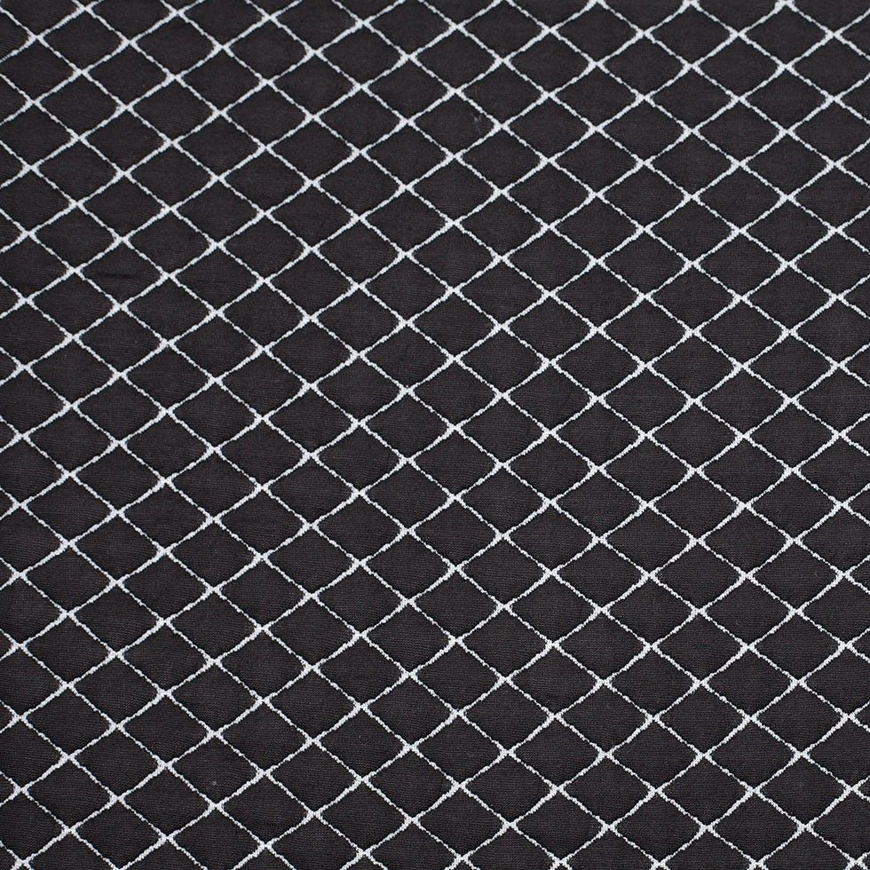 Quilted Fabric Black White Two Tone Polyester Quilt Custom Quilting For Fashion
