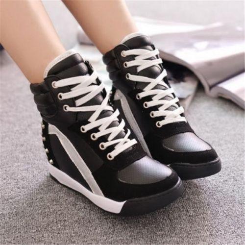 Details about WomenGirl Sneaker Sport Comfort Rivet Hidden
