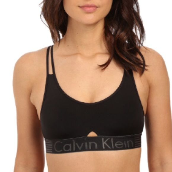 40237ecdcac Calvin Klein Iron Strength Micro Bralette A stretchy bralette features a  contemporary strappy back and flirty