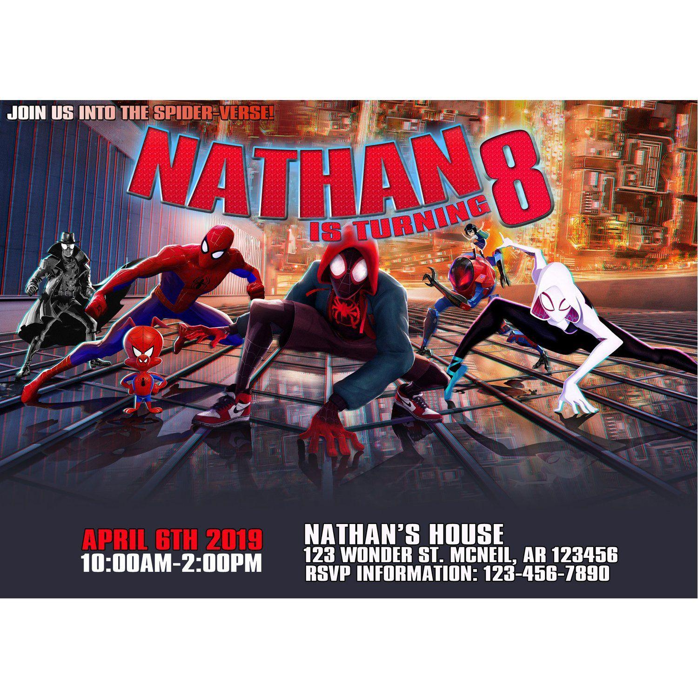 Pin By Joe On 2019 Fun Superhero Birthday Invitations Printable Birthday Invitations Spiderman Invitation