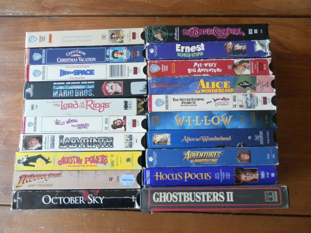 Lot Of 21 VHS Tapes Family Kids Movies Films Disney 80s 90s USED Childrens