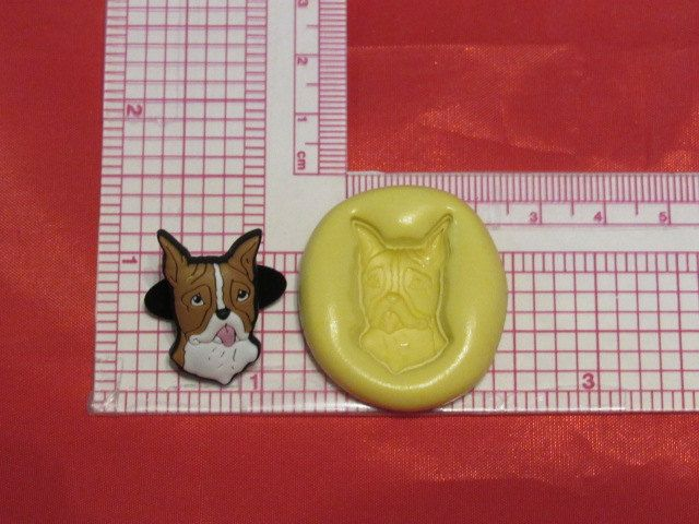 Boxer Dog Push Mold Food Safe Silicone 531 Cupcake Candy Resin Clay Gumpaste Fondant Soap Candle by LobsterTailMolds on Etsy