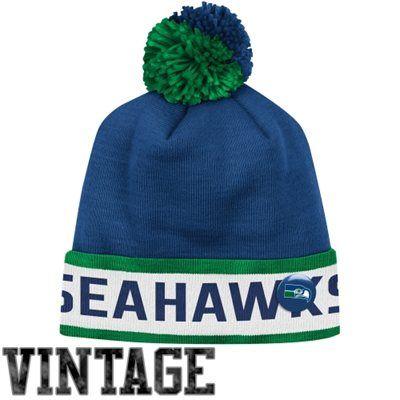 23c46649bd7e2 Mitchell   Ness Seattle Seahawks Vintage Block Cuffed Knit Beanie - Light  Blue