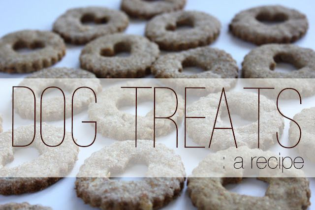 Dog Treats: a recipe