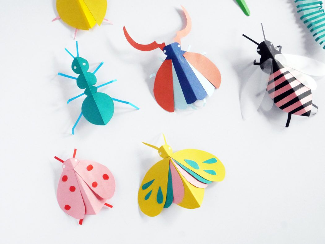 DIY PAPER BUGS HAND PUPPETS | Insect crafts, Bug crafts, Paper crafts