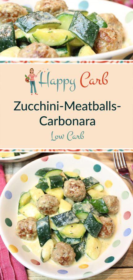 Photo of Zucchini Meatballs Carbonara – Happy Carb Recipes