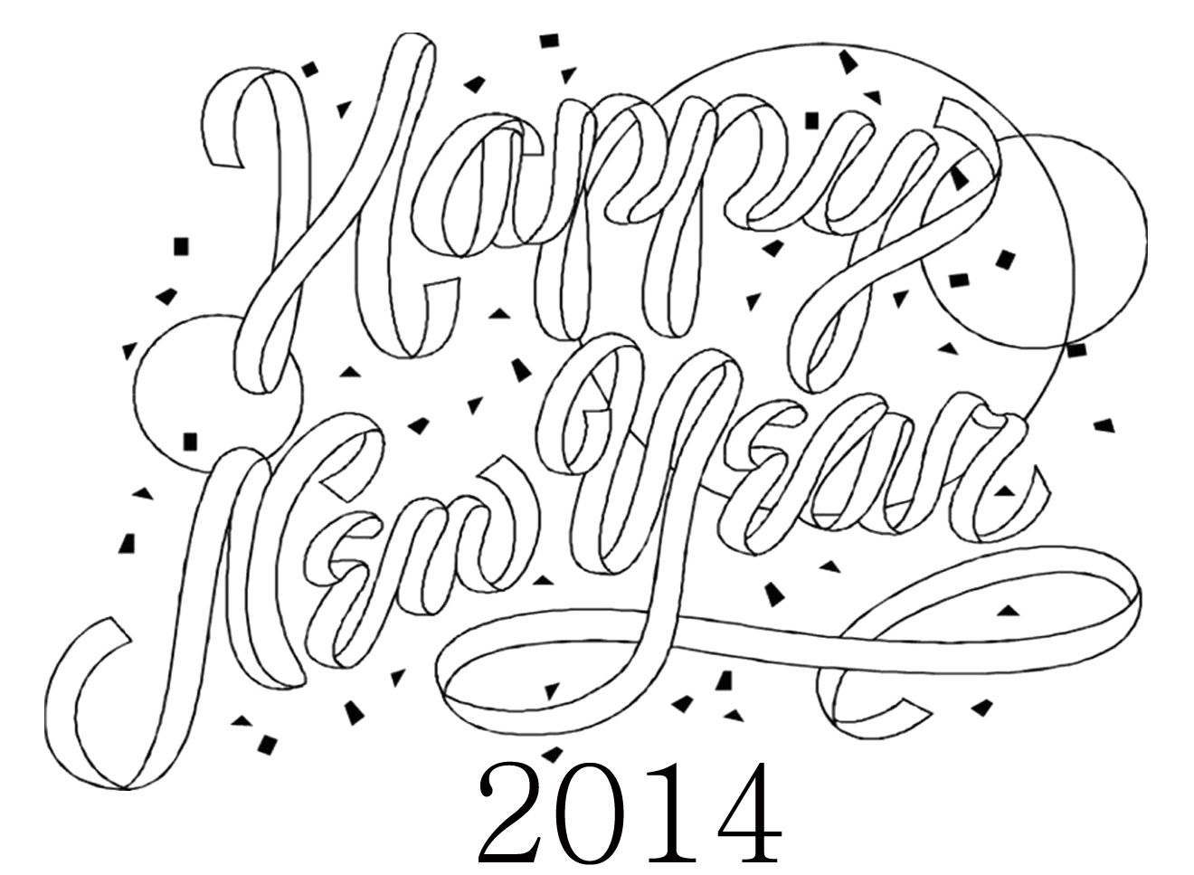 Greeting Card For New Year Coloring Page New Year Coloring Pages