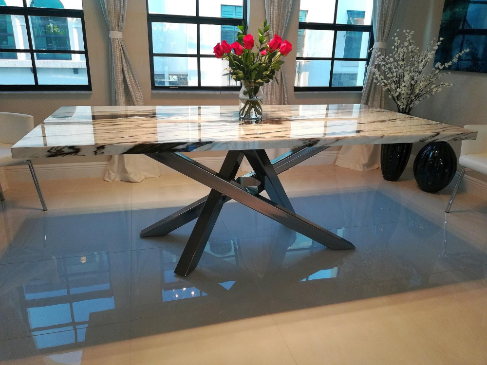 criss cross style metal table base any