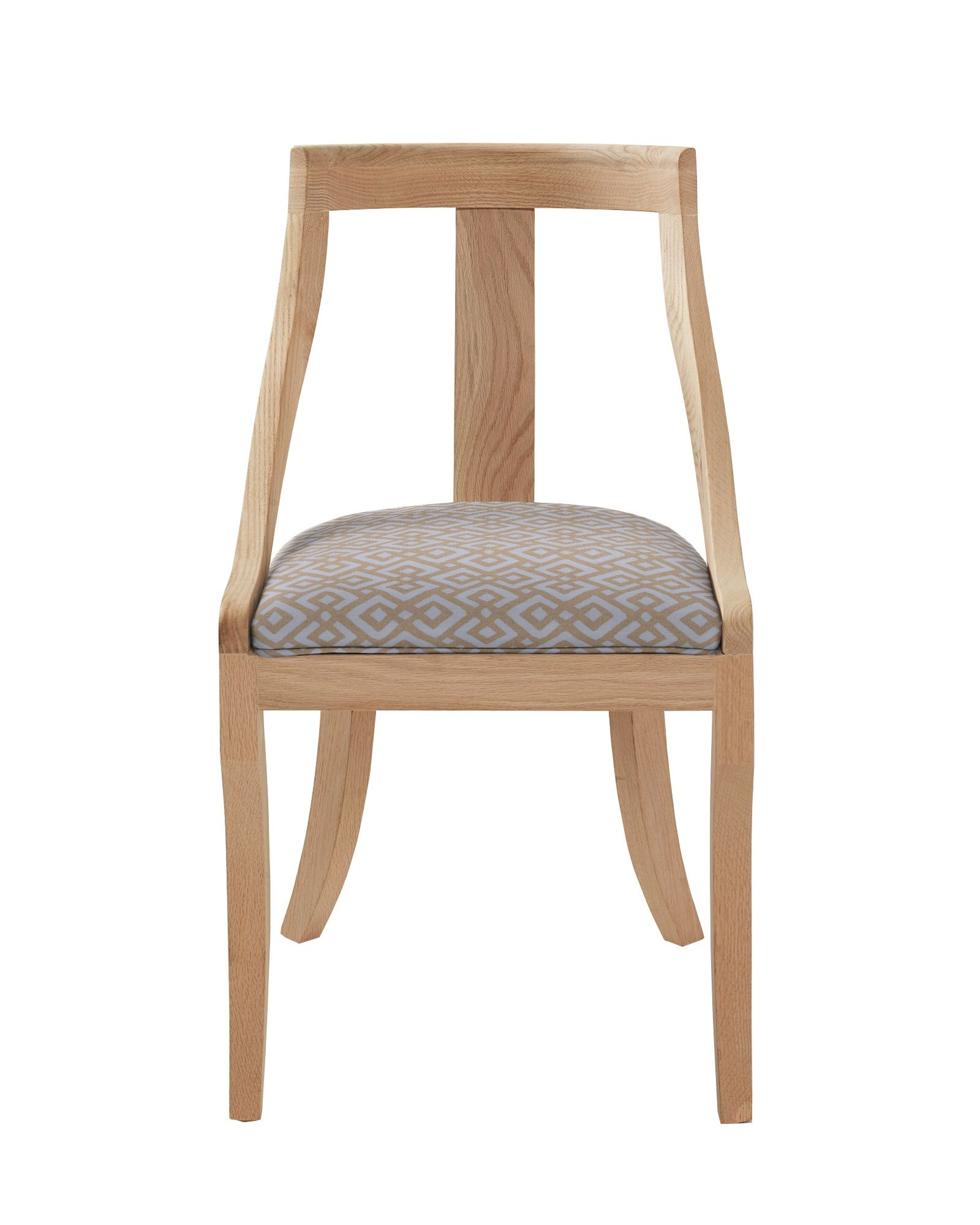 We Love The Sophistication And Comfort An Upholstered Chair Brings To The Dining Table This Unique Shape Is Ins Classy Chair Dining Chairs Metal Dining Chairs
