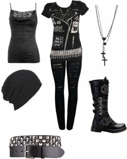 Super Fashion Style Edgy Rockers Polyvore 45+ Ideas