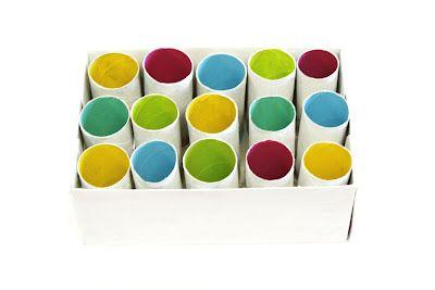 pintalalluna: Organizador con tubos de cartón
