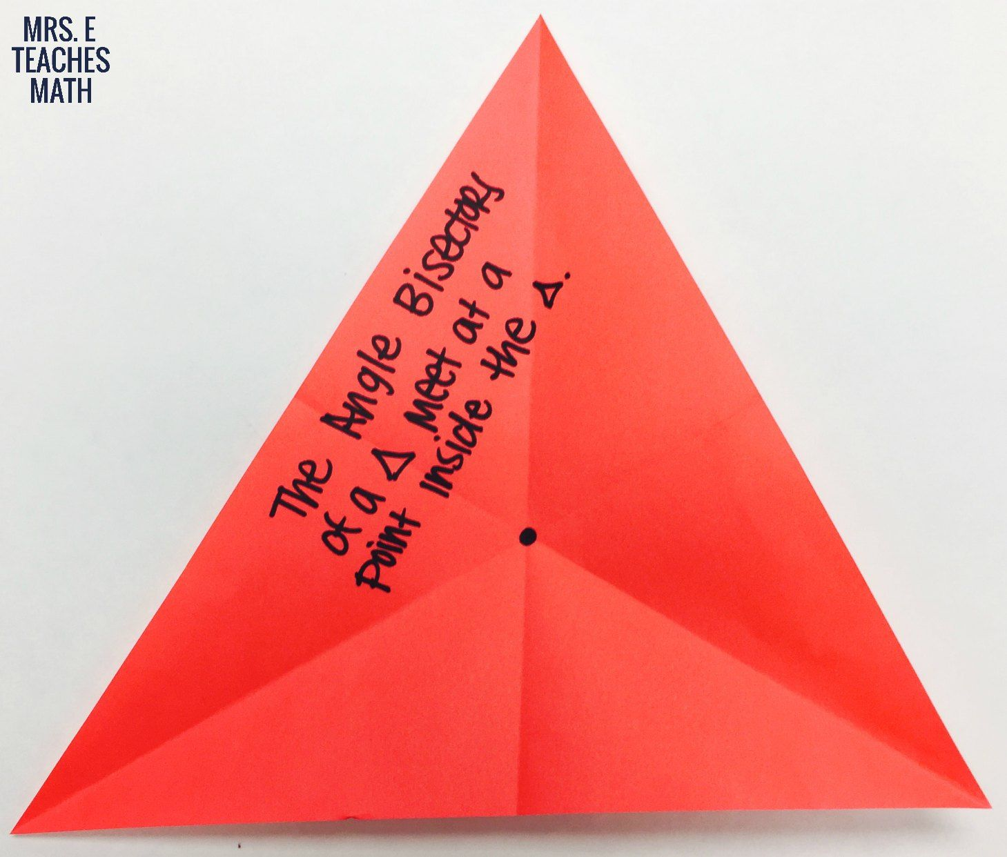 Altitudes And Angle Bisectors Paper Folding Activity