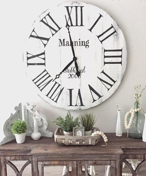 Round Reclaimed Wood Clock Wood Clocks Big Wall Clocks Decor