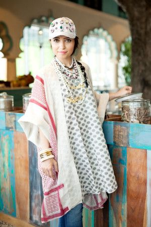 1f16f65d14 EMAN MOON Vest Dress Off white cotton kaftan featuring a dotted front  pattern, a keffiyeh print overlay, an oversized silhouette and wide long  sleeves.