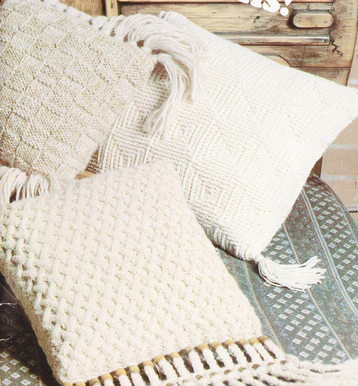 Pillow Knitting Patterns - Cushion Crochet Patterns - Aran ...