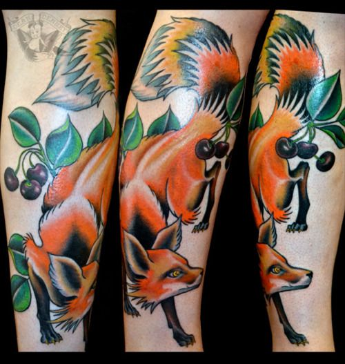 Traditional japanese fox tattoo - photo#7