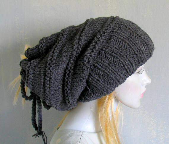 d937bdfe1 Black Tube Hat Dreadlocks Headband Wrap Hair Band Winter Accessory ...