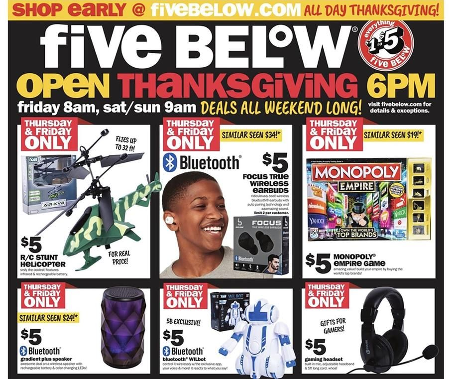 Five Below Black Friday 2018 Ads Scan Deals And Sales See The Five Below Black Friday Ad 2018 At 101blackfri Black Friday Ads Black Friday Cyber Monday Offers