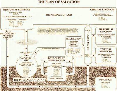 Plan Of Salvation Diagram Personal Progress Lds Yw Pinterest