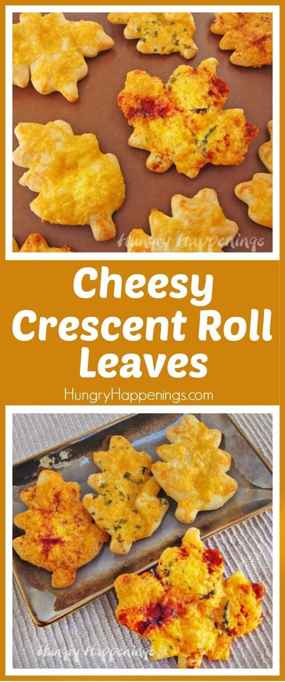Cheesy Crescent Roll Leaves For Your Thanksgiving Bread Basket #thanksgivingrecipes