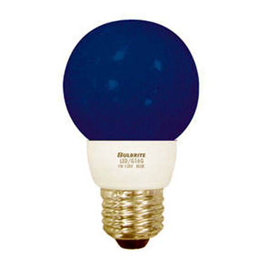 Bulbrite Led G16b 1 Watt Led G16 Globe Medium Base Blue 6 Bulbs Globe Light Bulbs Globe Bulb 1w Led