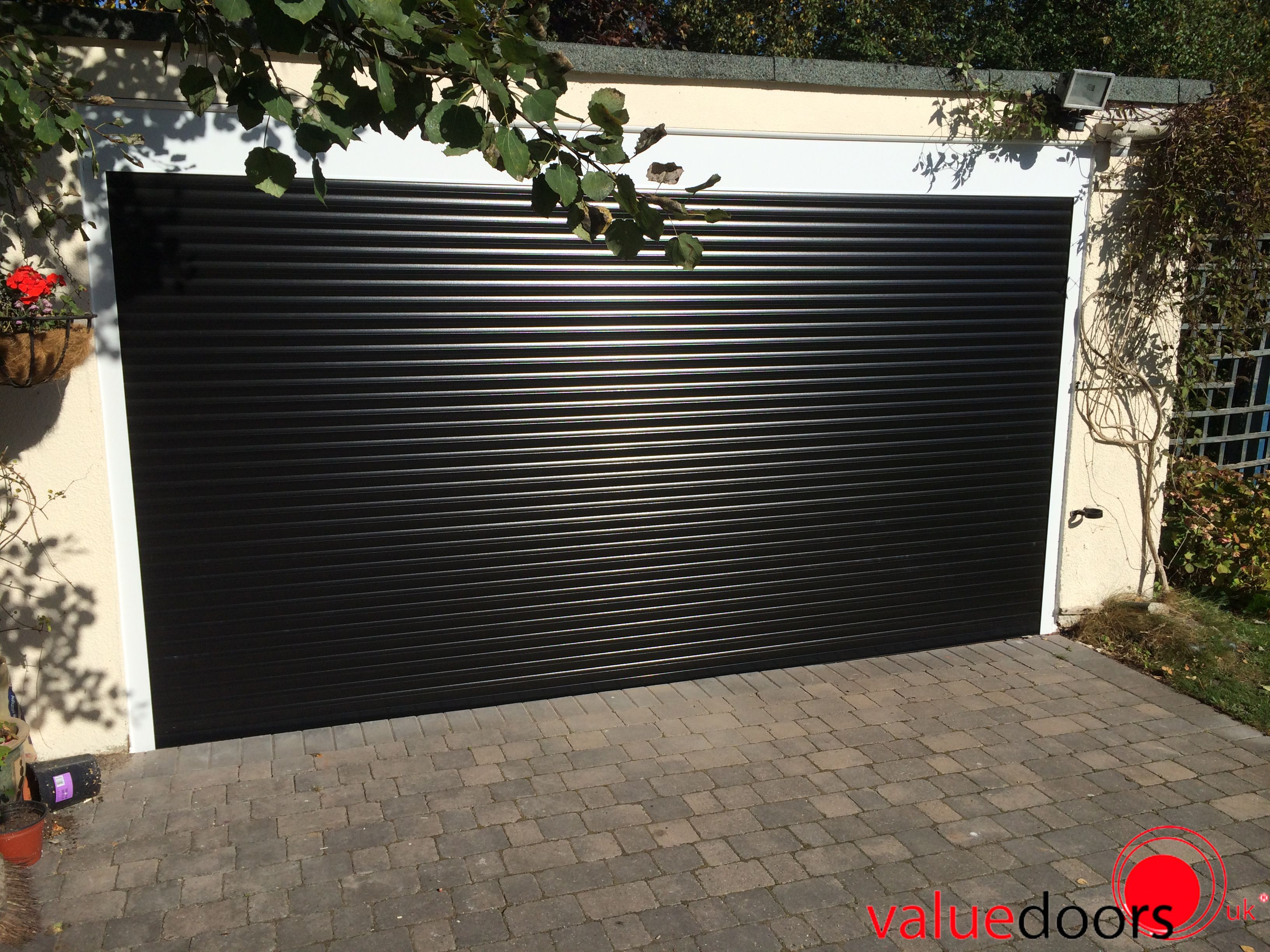 Perfect Roller Shutter Garage Door In Black