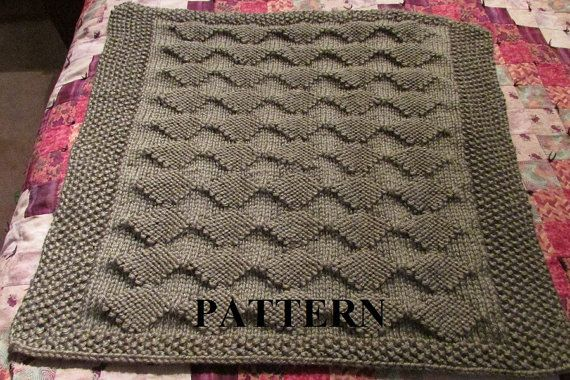 Knit Baby Blanket Pattern Pdf Knitting Pattern Diamond Knitting