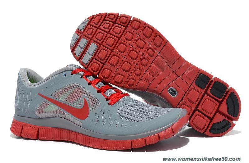 Discount Authentic Mens Nike Free Run+ 3 Running Shoes Gym Red/White