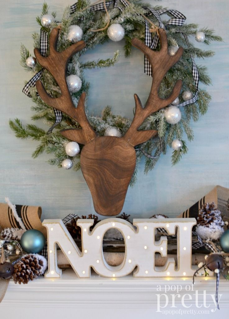 Photo of French Inspired Christmas Decor (Black, White & Peacock Blue): Canadian Bloggers Christmas Home Tour – A Pop of Pretty