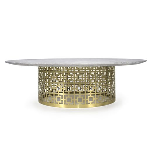 Nixon Cocktail Table In Marble And Brass JONATHAN ADLER Nice Ideas