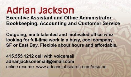 Työnhakijan käyntikortti voi olla myös hyvin yksinkertainen ja - tech support resumeresume business cards