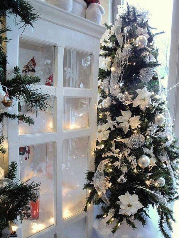 Idee Sul Natale.Albero Natale Bianco Icy White Christmas Alberi Di